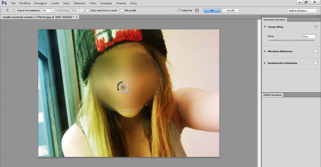 oscurare il viso in una foto con Photoshop