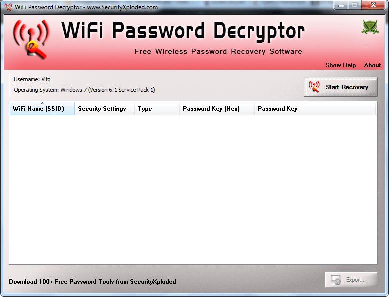 WiFi Password Decryptor