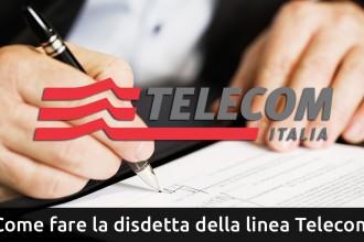 disdetta della linea telecom