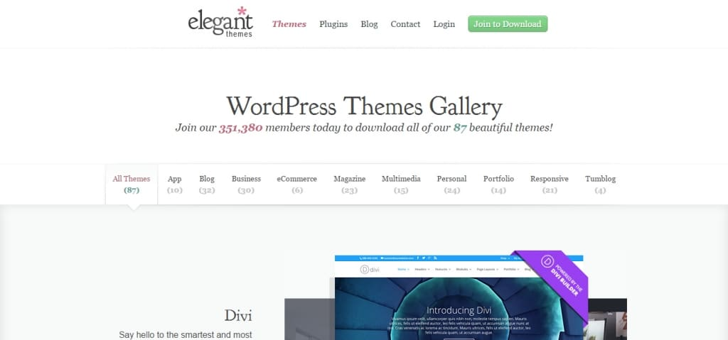 elegantthemes wordpress
