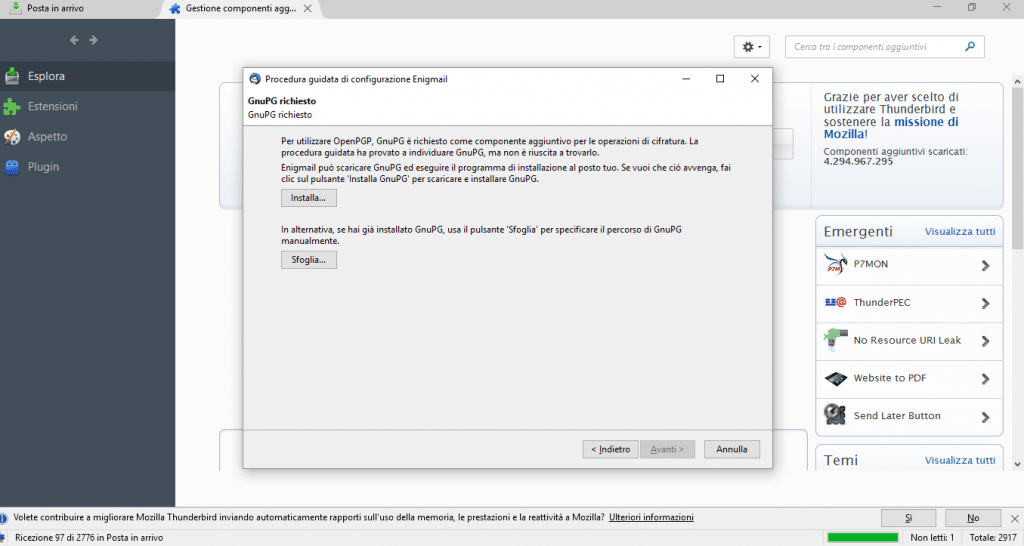installare GNU Privacy Guard