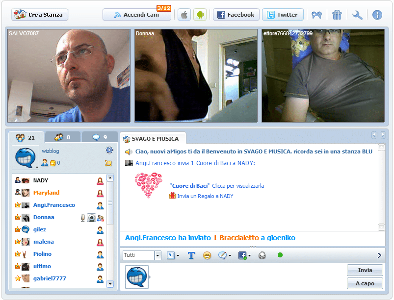 video di tradimenti chat gratis online senza registrazione