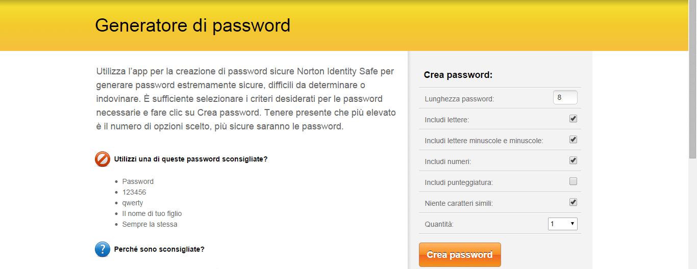 I migliori generatori di password online wizblog for Generatore di blueprint gratuito