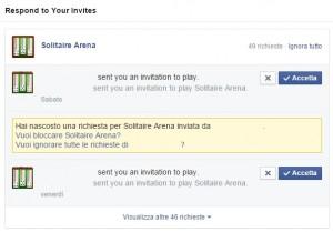 Come bloccare gli inviti ai giochi su Facebook