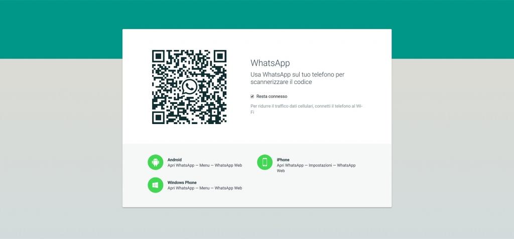 collegarsi a whatsapp web