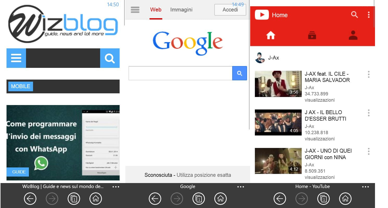 I migliori browser per Windows Phone - WizBlog