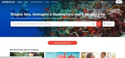 Shutterstock acquistare immagini per uso commerciale