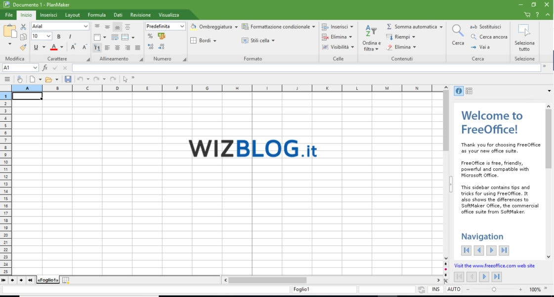 Programma FreeOffice PlanMaker