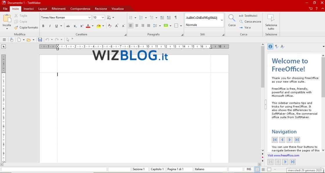 Programma FreeOffice TextMaker