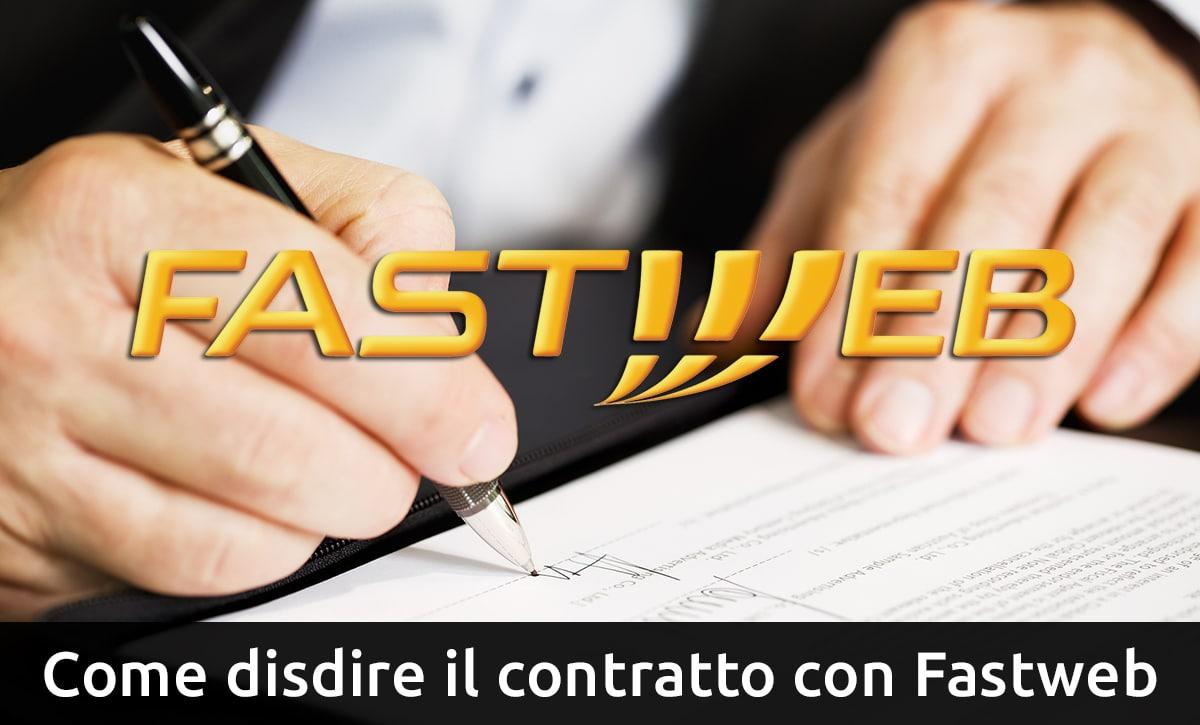 disdire contratto fastweb
