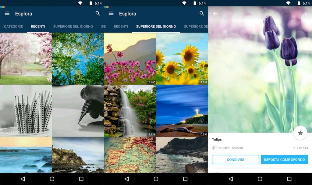 Le migliori 5 app per gli sfondi su android wizblog for Immagini hd per smartphone