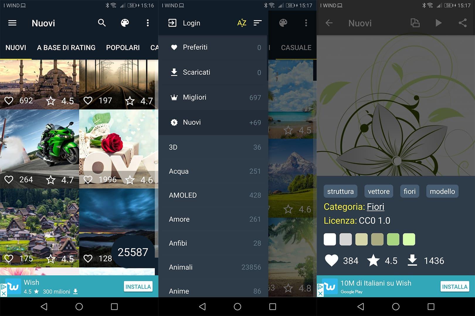 app sfondi per Android