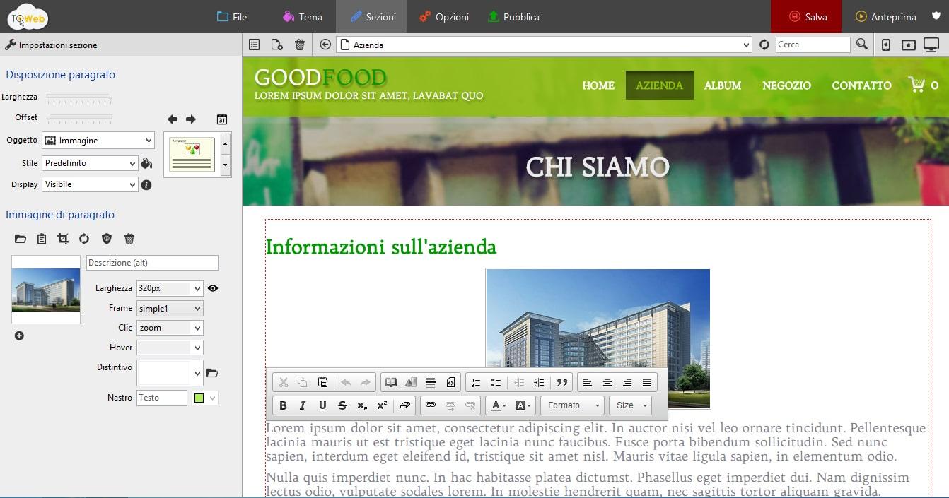 TOWeb 6 software per creare siti web