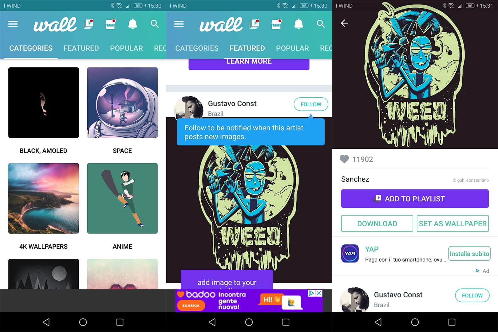 app Walli Wallpapers