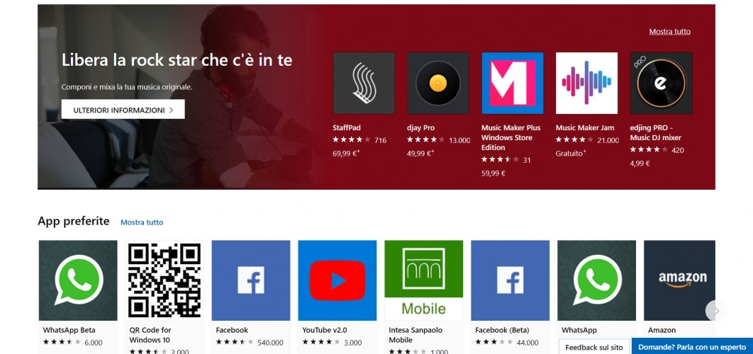 applicazioni per windows 10