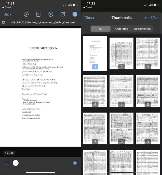 App Xodo PDF per iPhone
