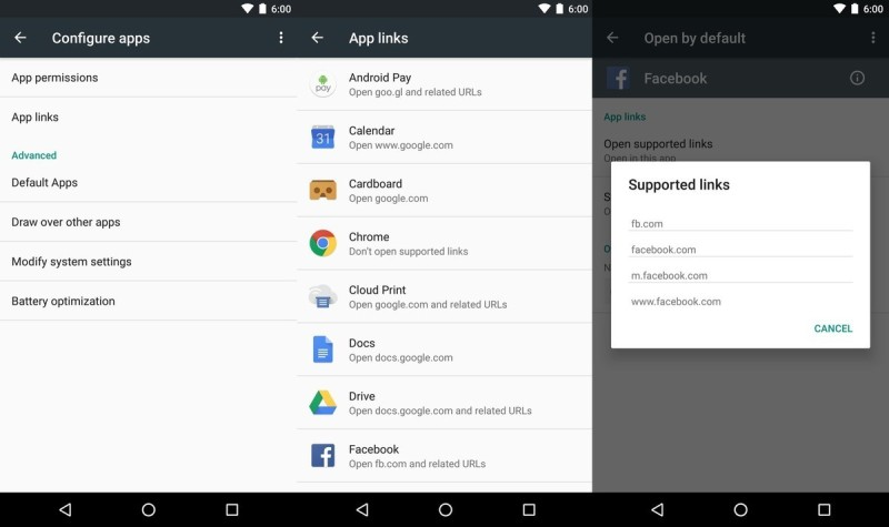app links android 6