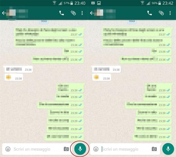 Come inviare messaggi di testo e vocali con Whatsapp