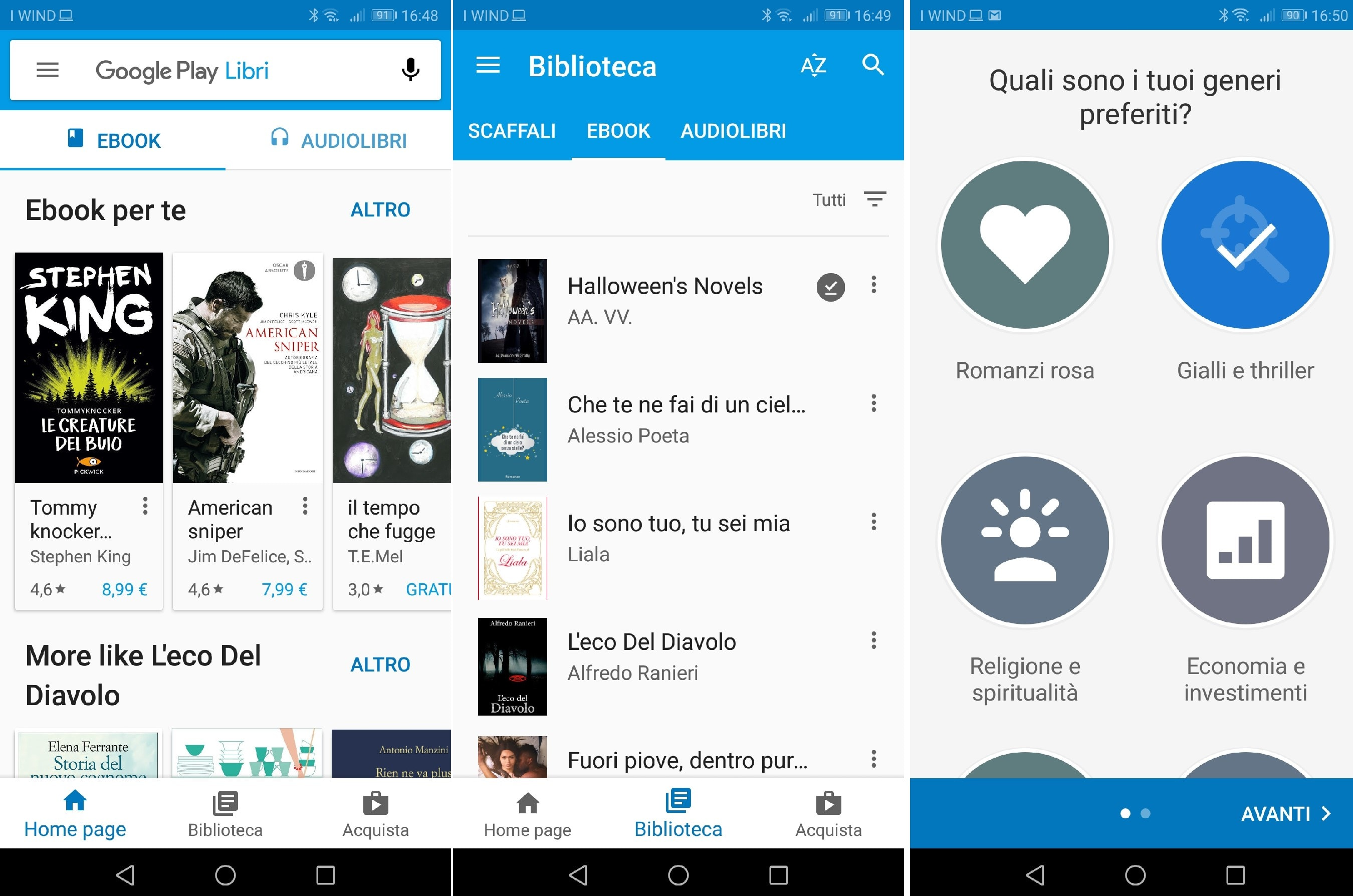 Google Play Libri per android e ios