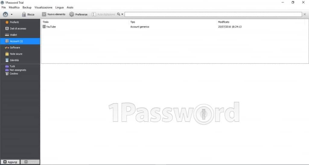 1Password per windows e mac