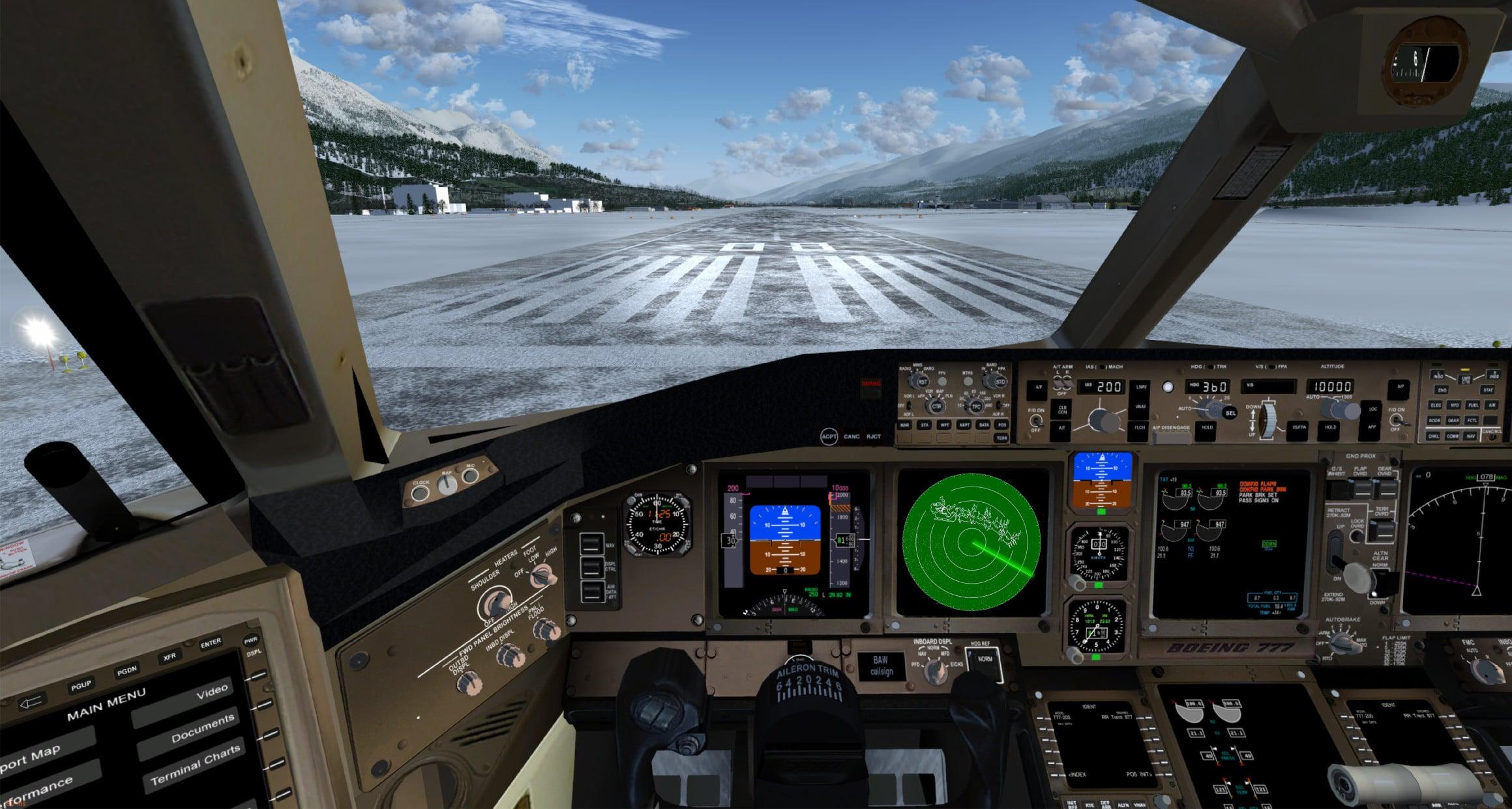 simulatore aereo combattimento
