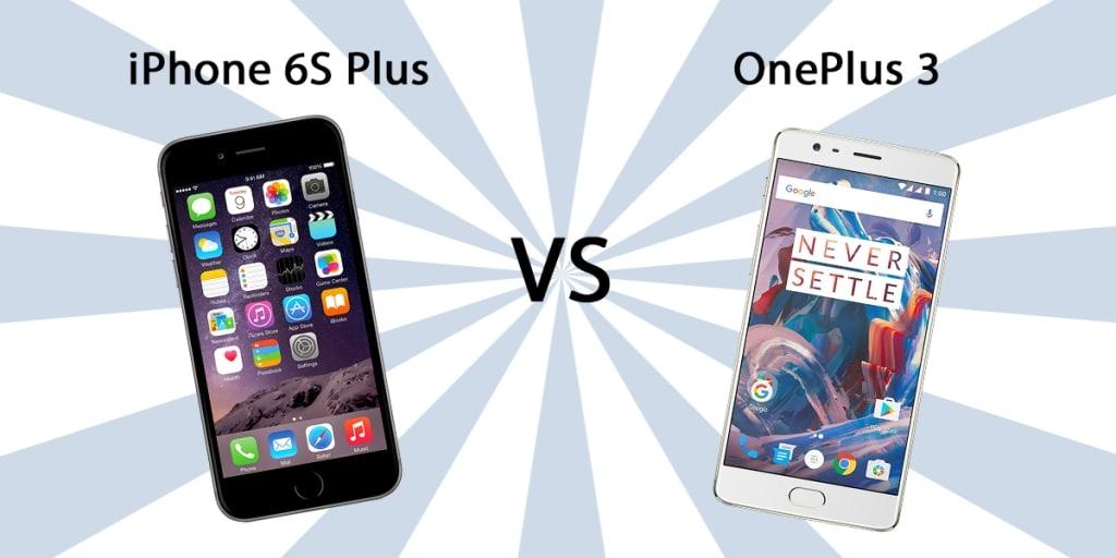Iphone 6s plus vs oneplus 3 size