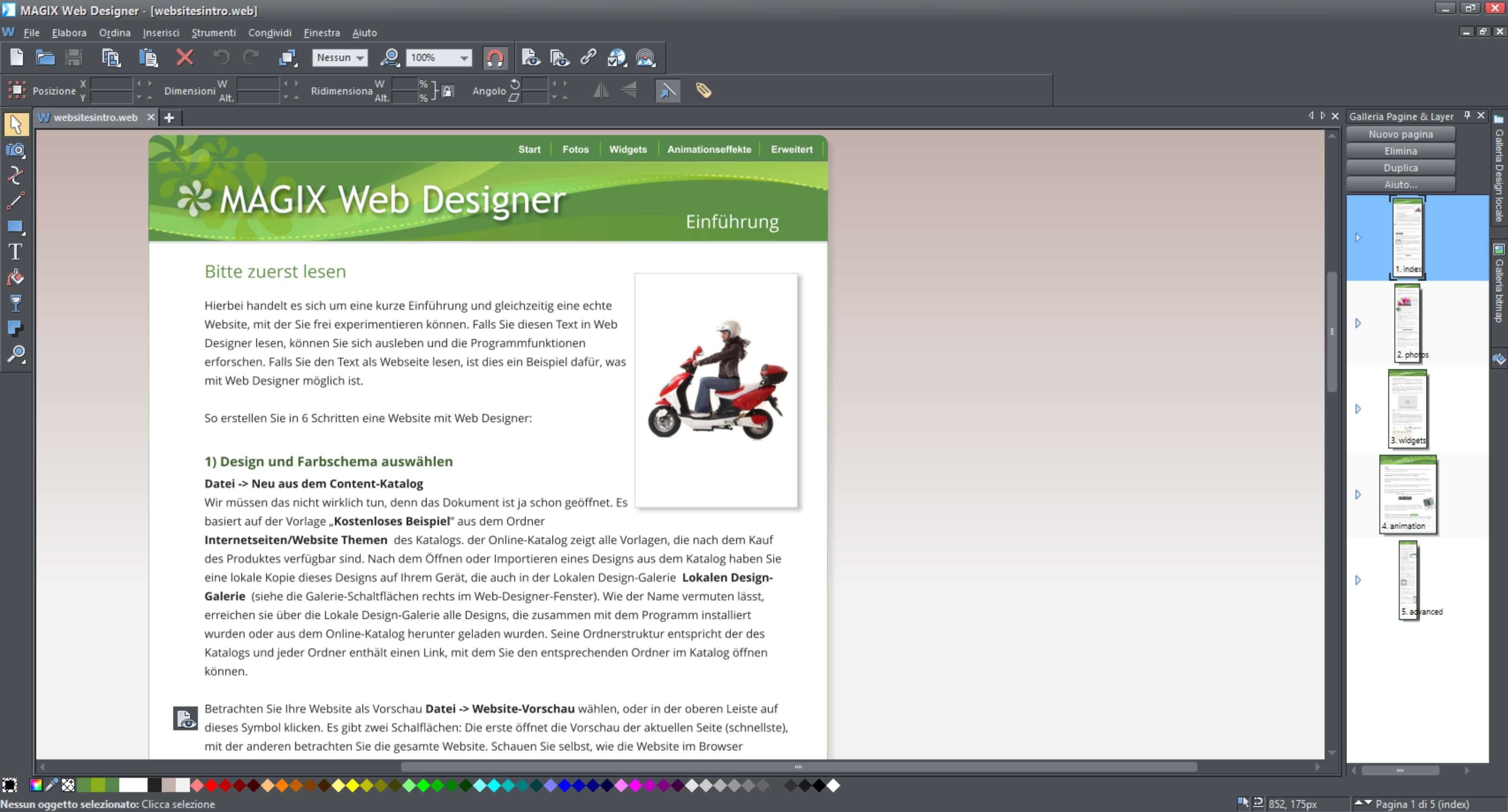 MAGIX Web Designer per realizzare siti