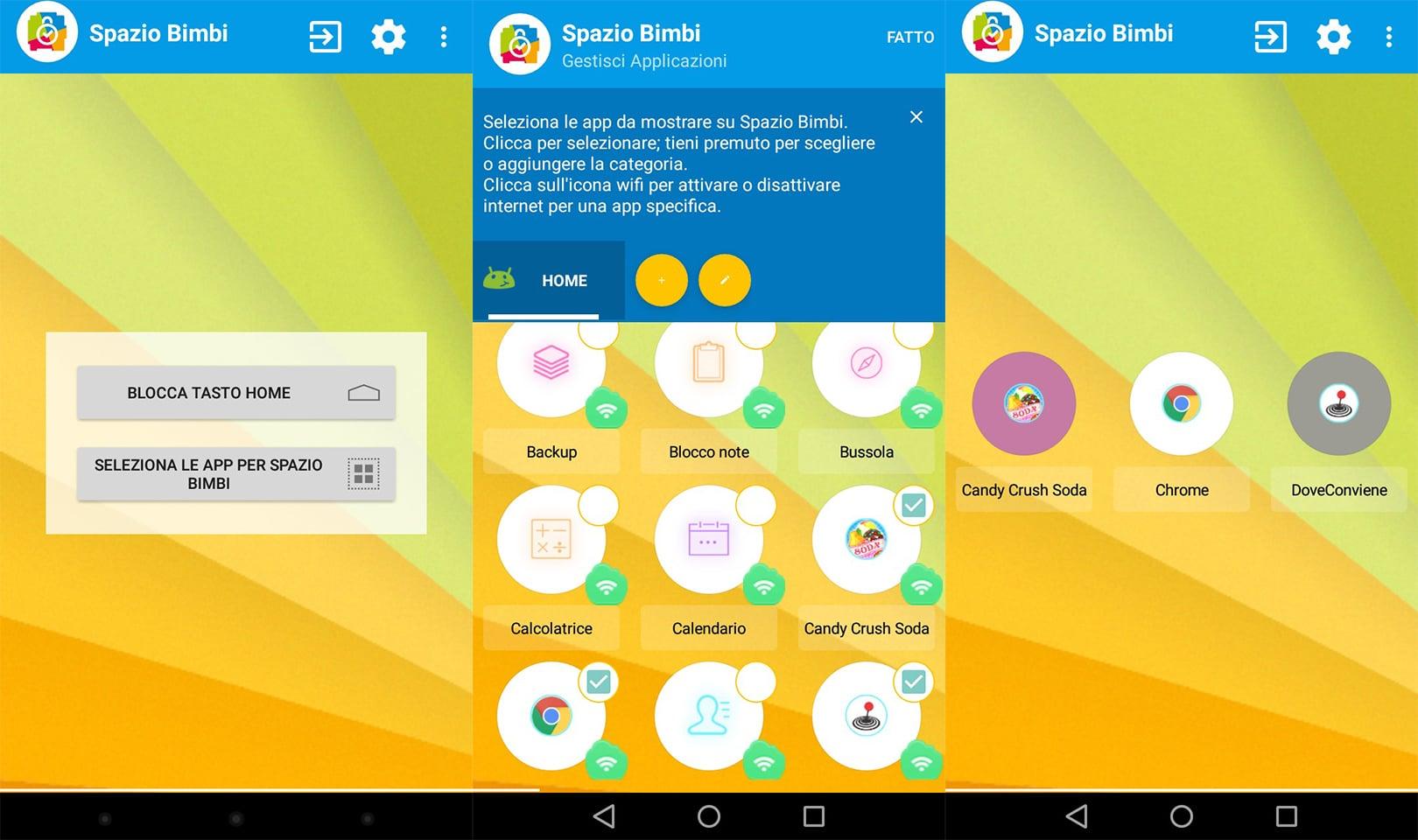 Spazio Bimbi app