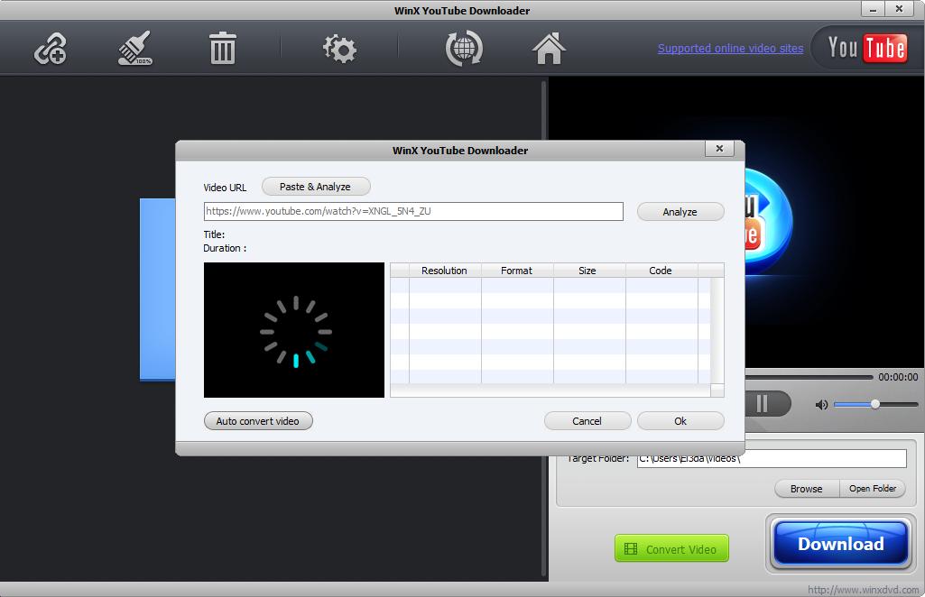 Come funziona WinX Youtube Downloader