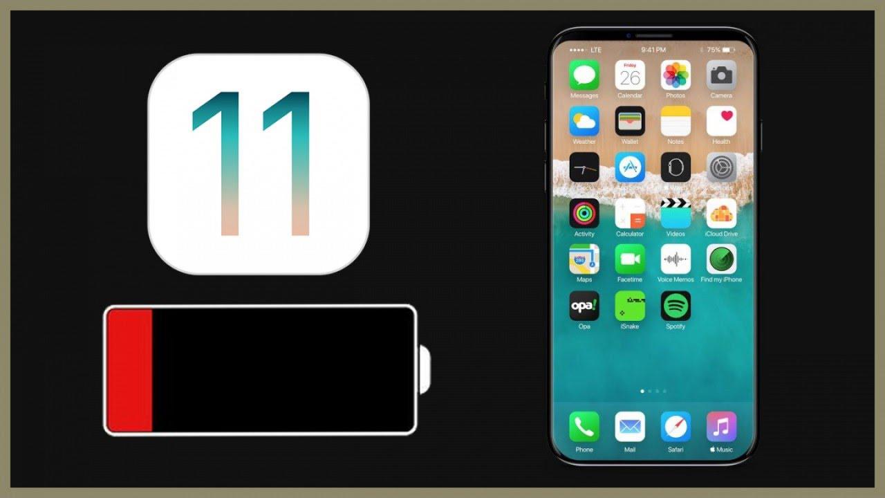 batteria ios 11