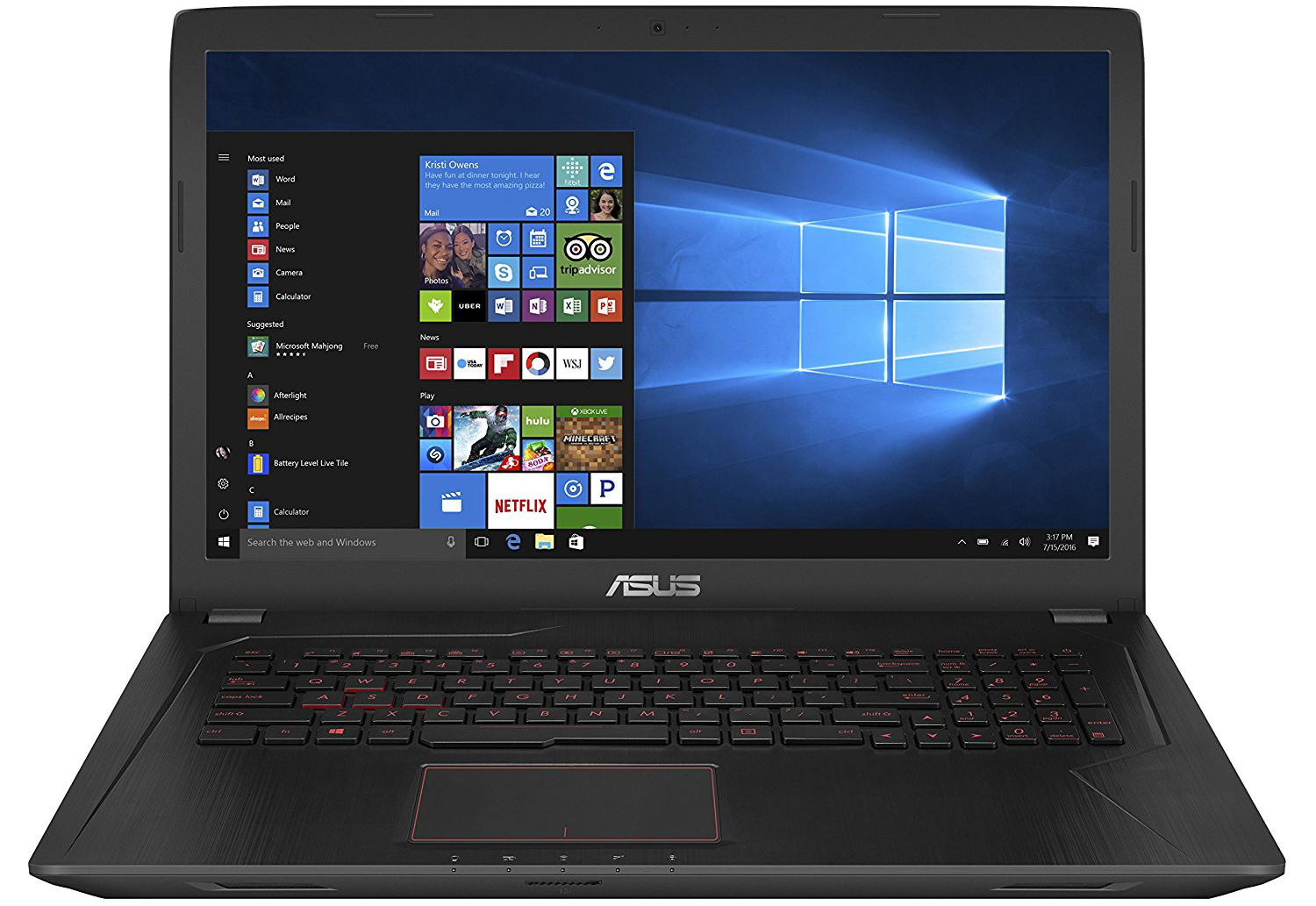 Notebook Asus FX753VD-GC193T