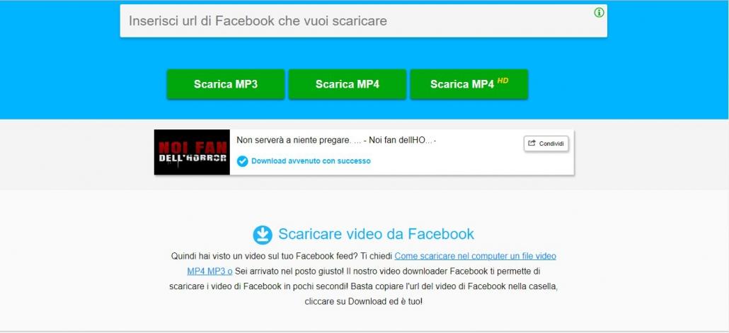 Scaricare video da Facebook con DownloadVideosFrom