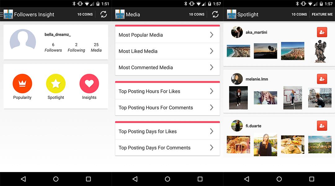 App per controllare followers instagram - WizBlog