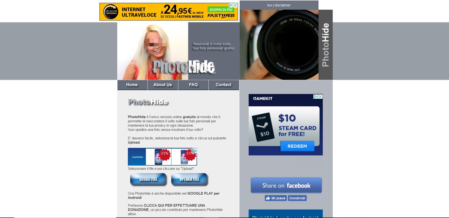 sito PhotoHide
