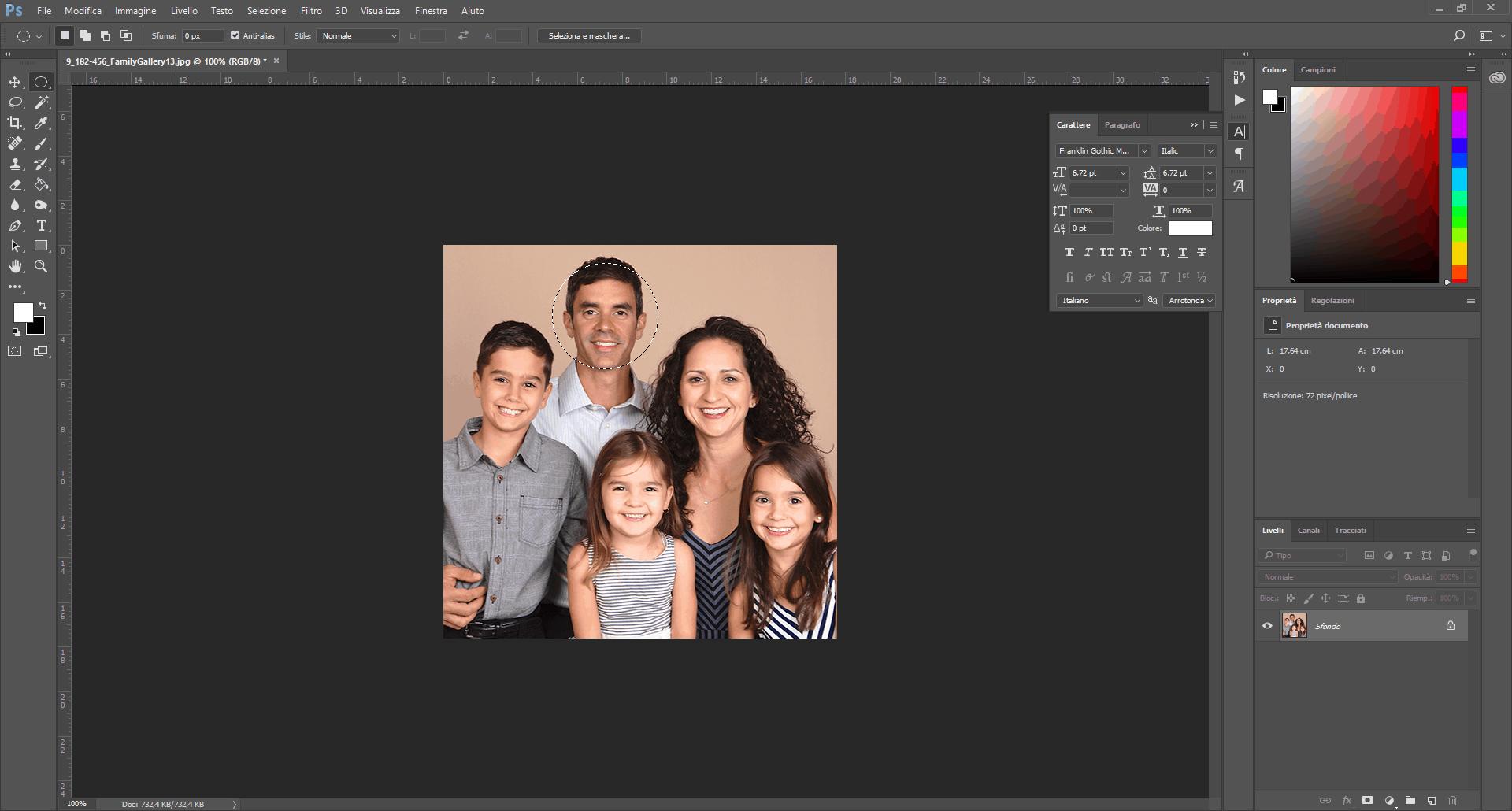 selezionare viso photoshop