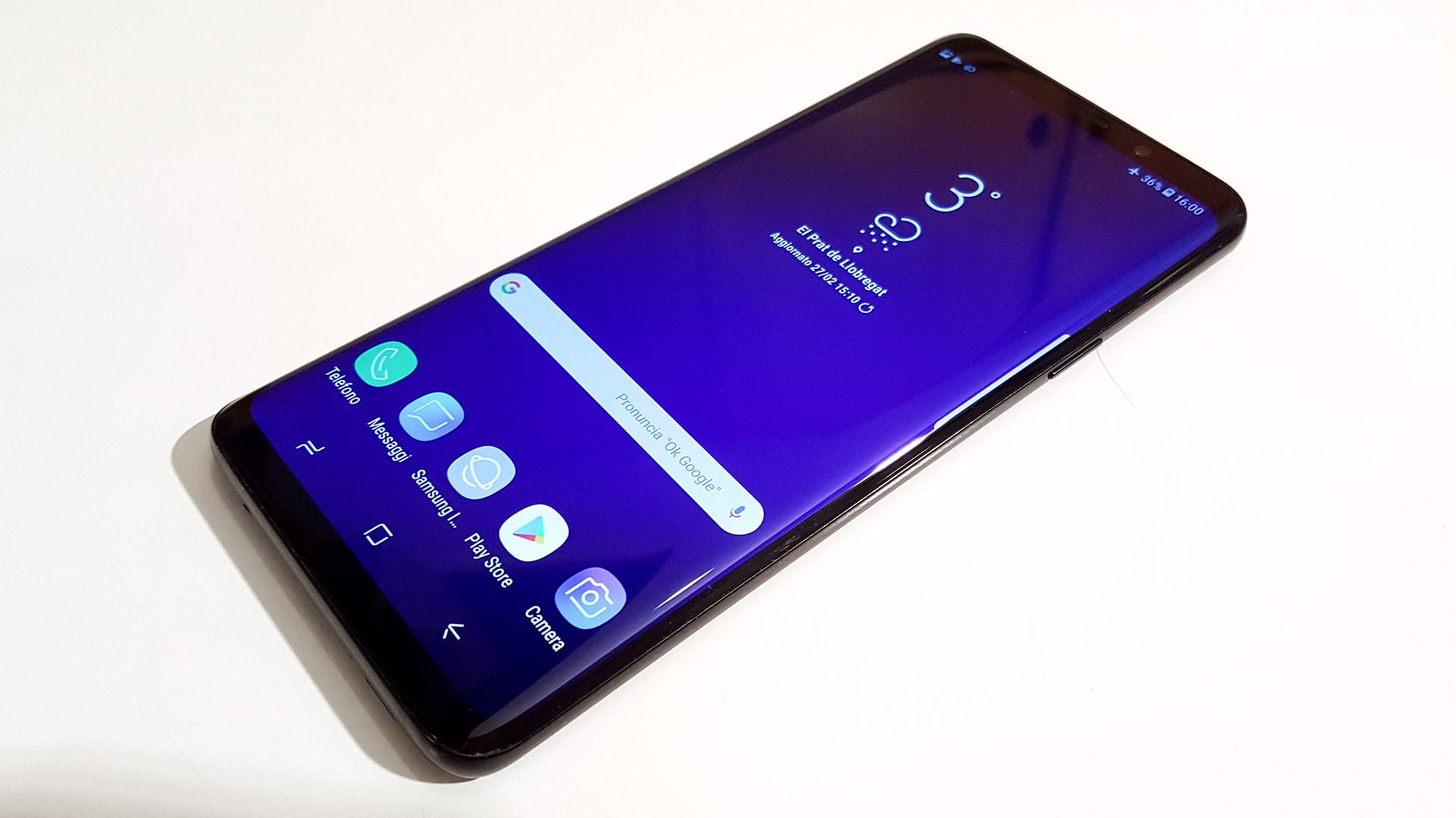 schermo del Samsung Galaxy S9