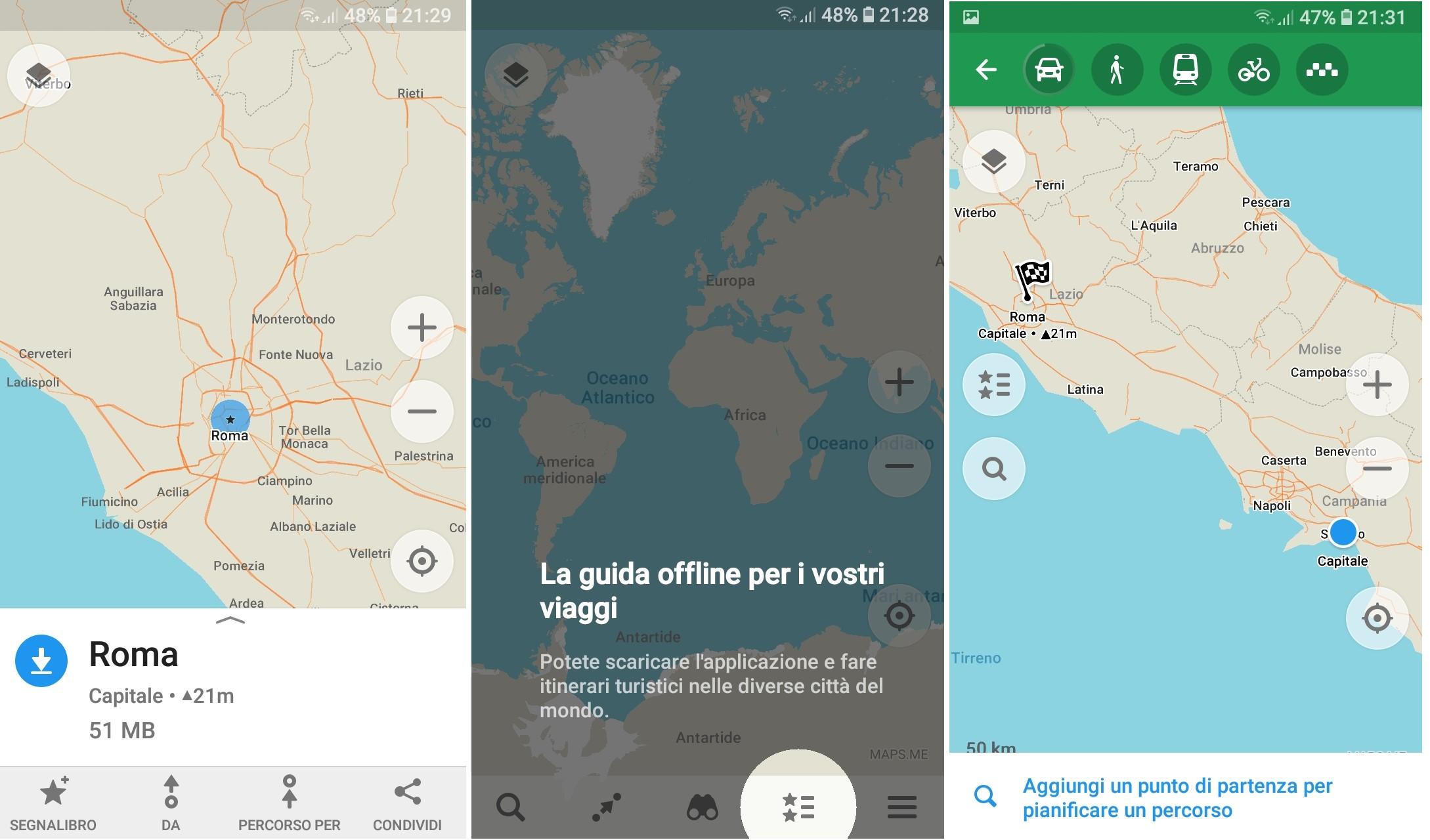 Applicazione maps.me