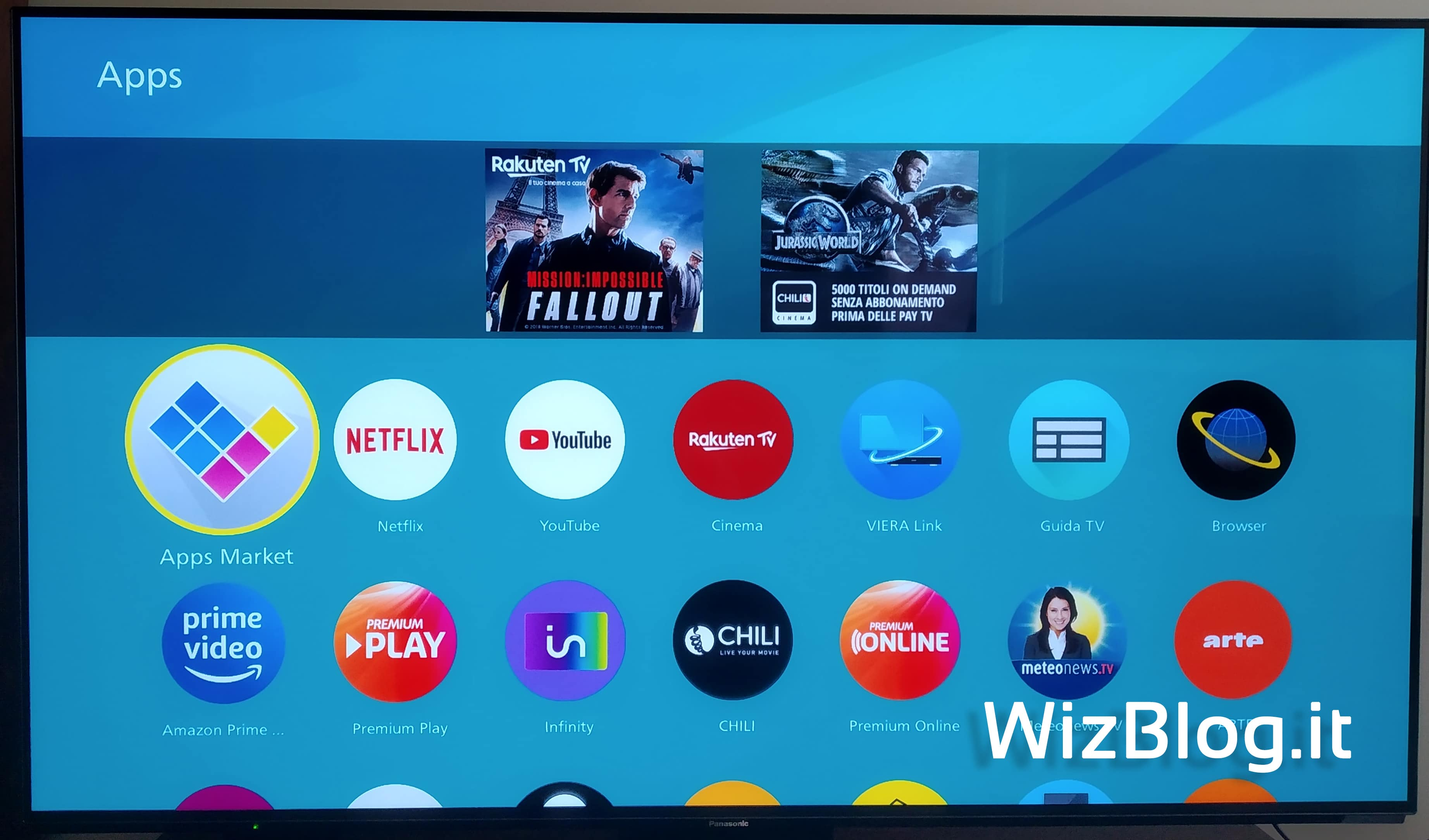 app della Smart TV Panasonic 55FZ950E