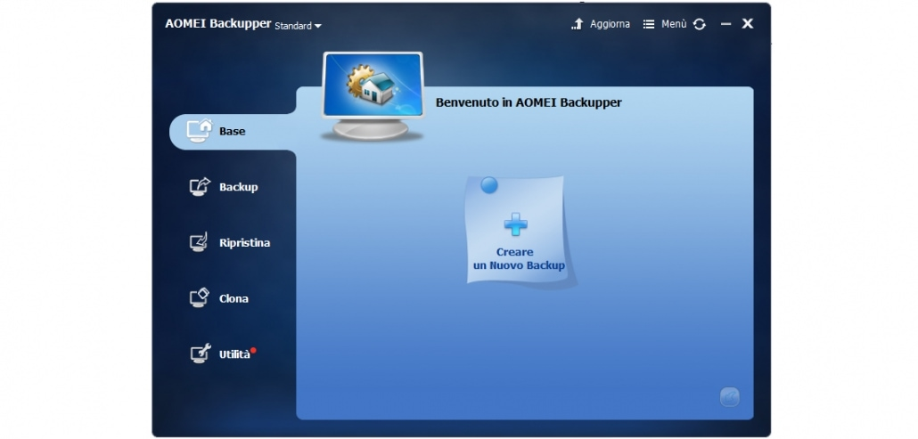 AOMEI Backupper Standard per fare il backup di partizioni