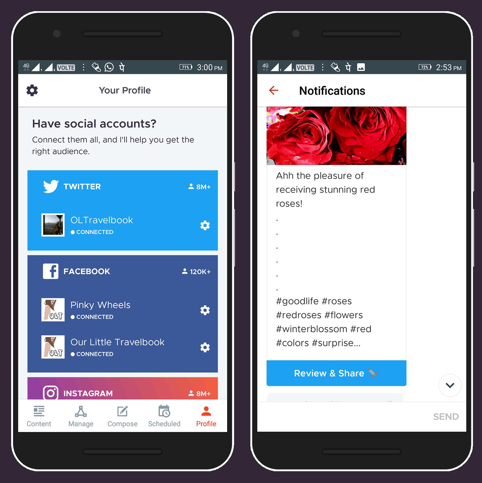applicazione Crowdfire