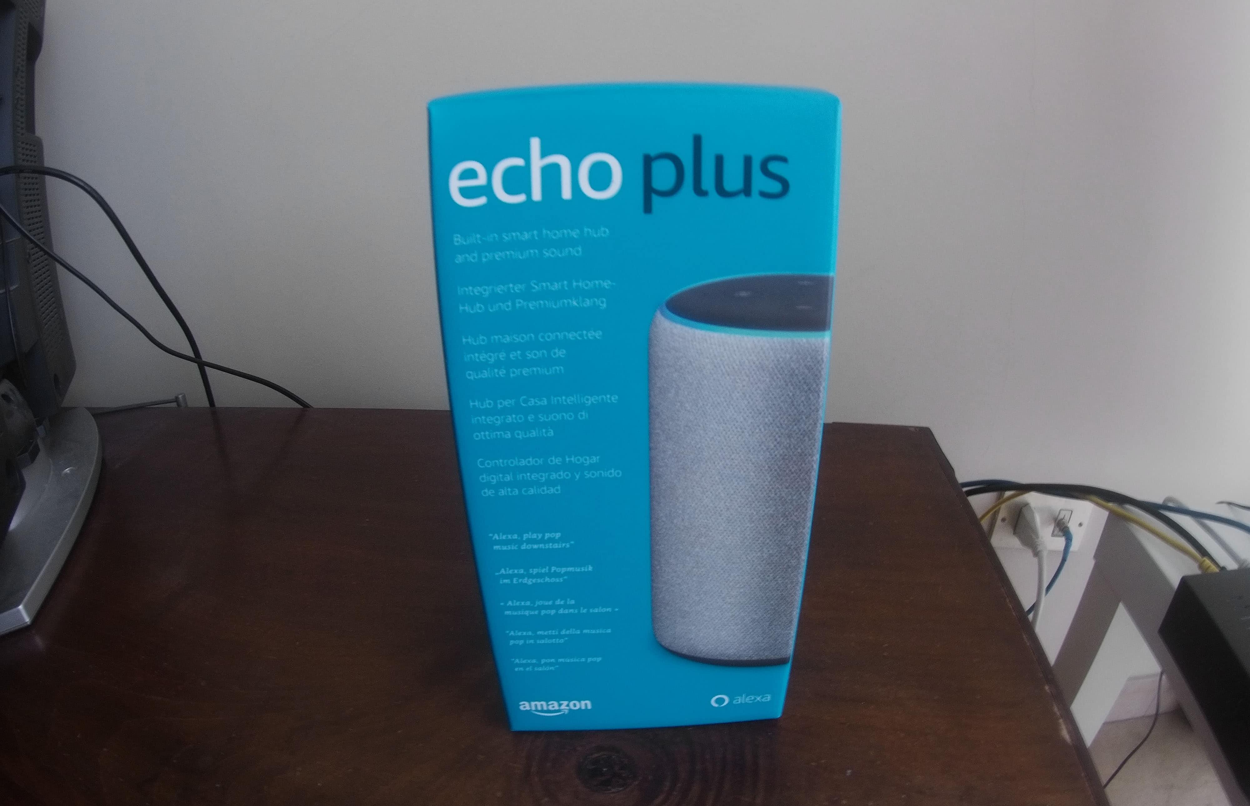 confezione di Amazon Echo Plus