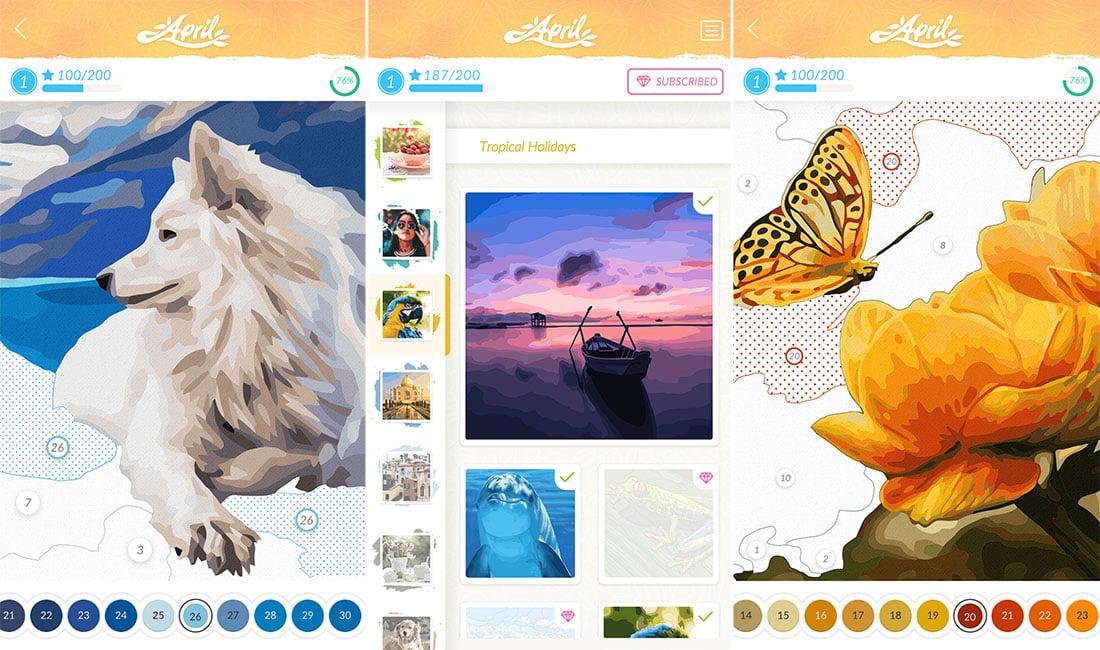 app April Coloring