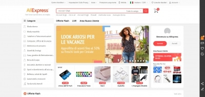 AliExpress sito cinese