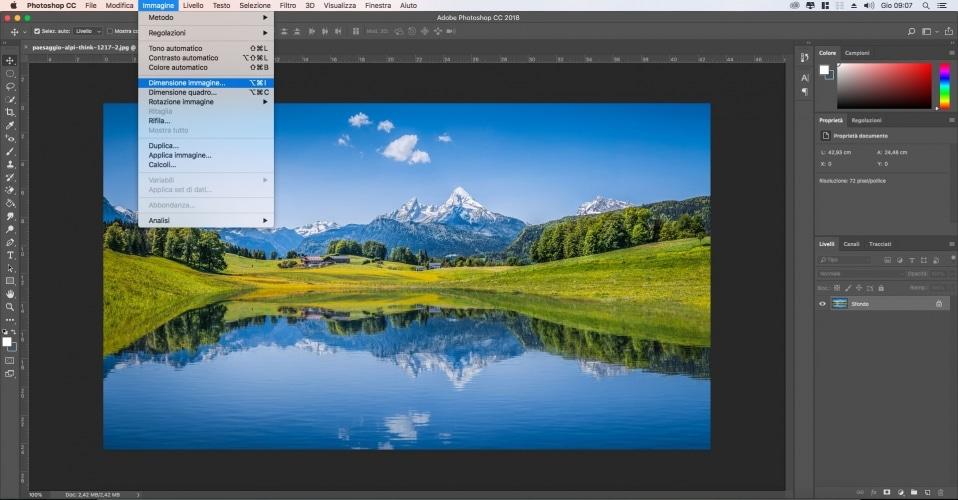 Come modificare le dimensioni di una foto con Photoshop