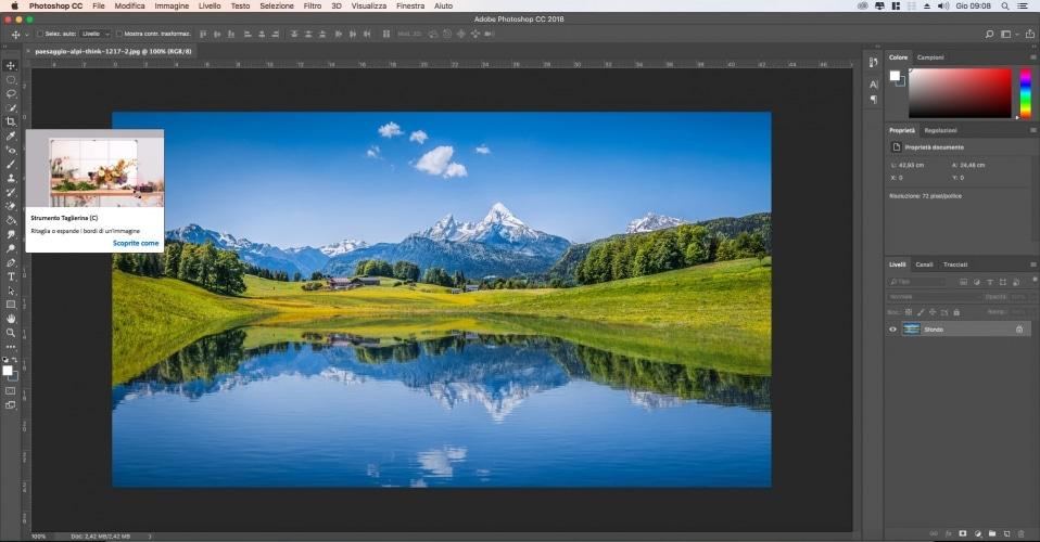 Come Ritagliare una foto con photoshop