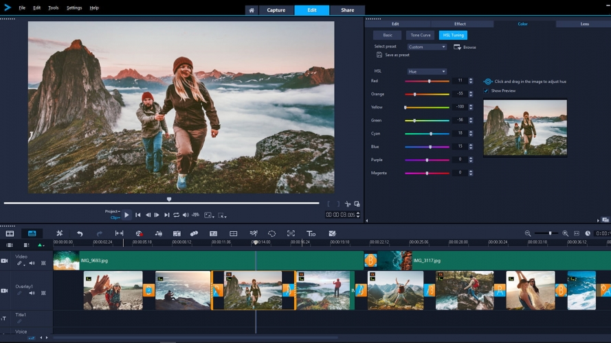 Corel VideoStudio Pro editing video 4k