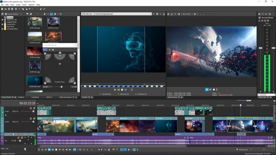 Vegas Pro 16 montaggio video 4k