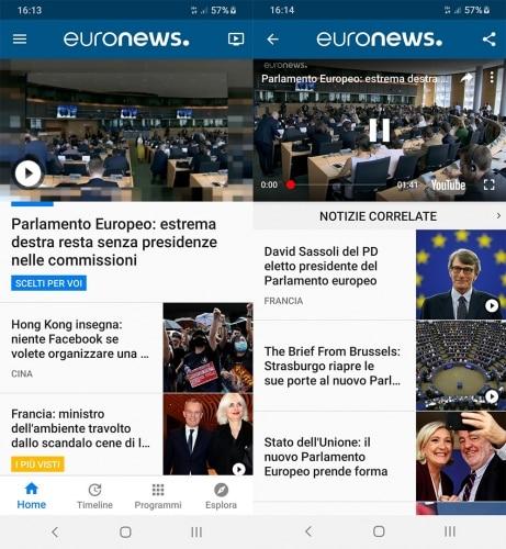 euronews per dirette tv e dirette streaming