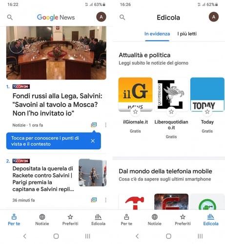 google news App di notizie: