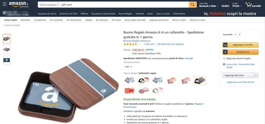 Dove comprare le Gift card Amazon:
